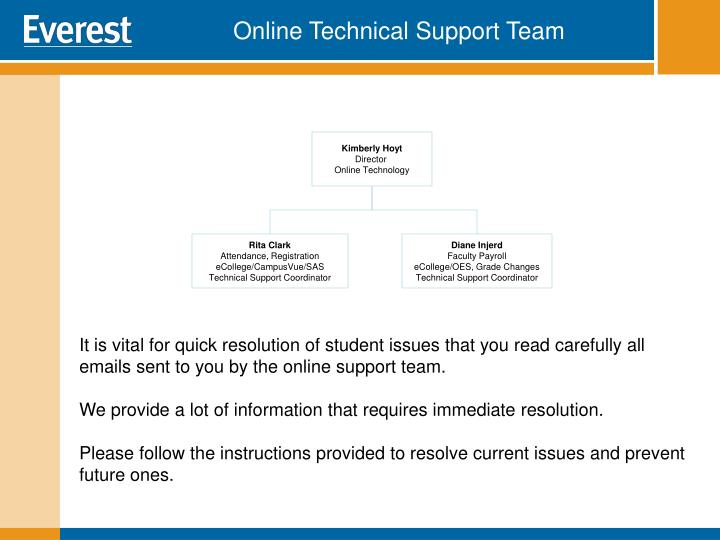 Online Technical Support Team