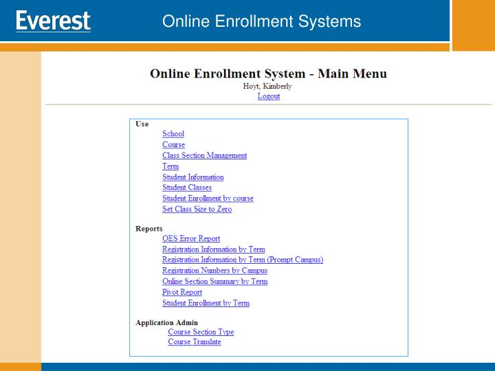 Online Enrollment Systems