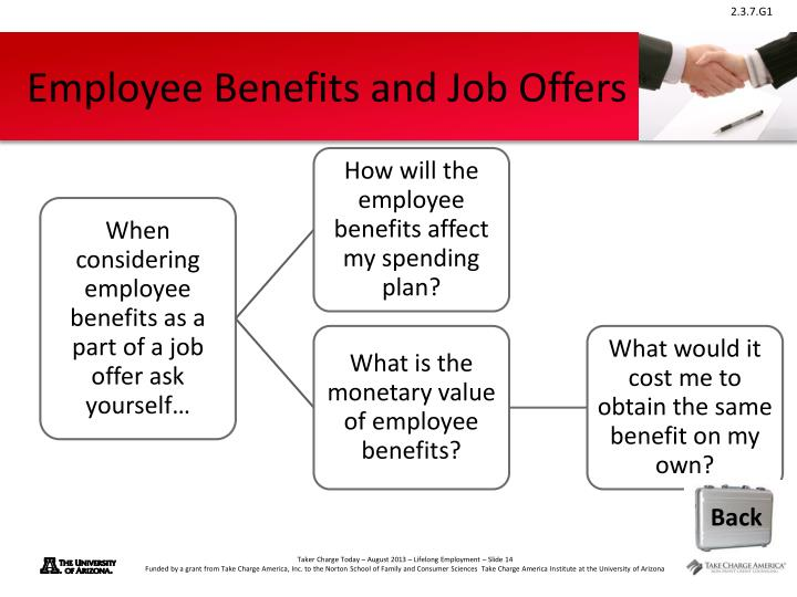 Employee Benefits and Job Offers