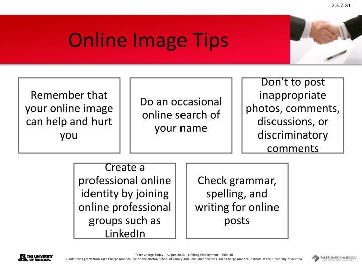 Online Image Tips