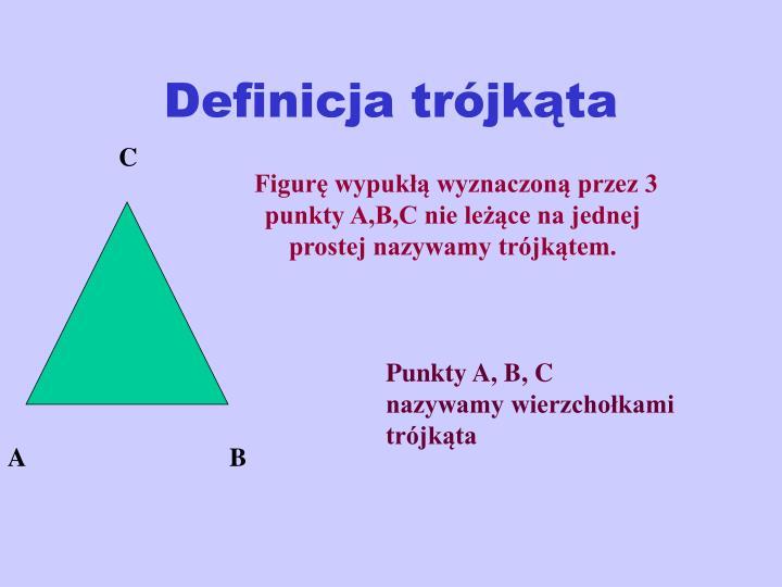 Definicja trójkąta