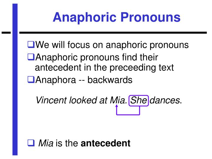 Anaphoric Pronouns
