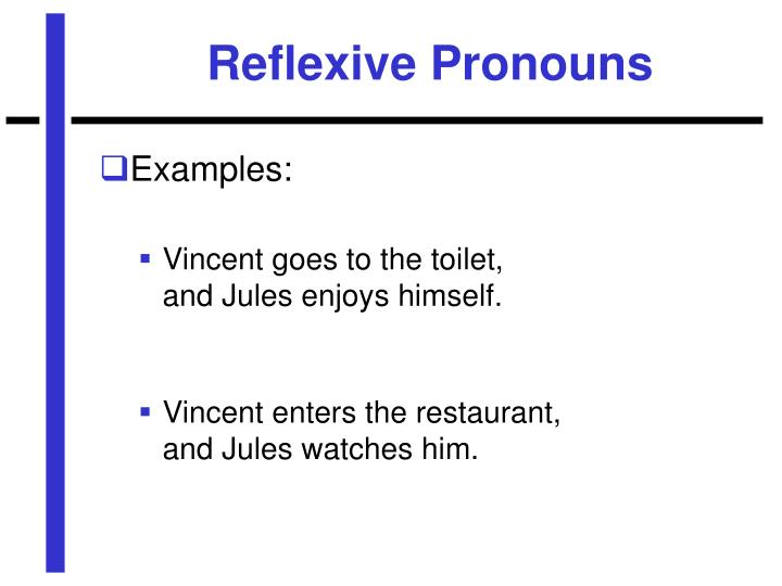 Reflexive Pronouns