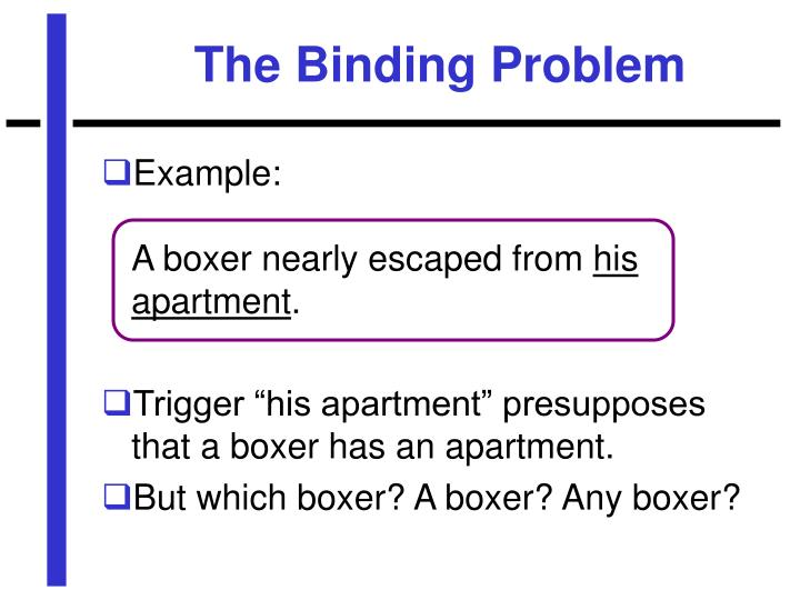 The Binding Problem