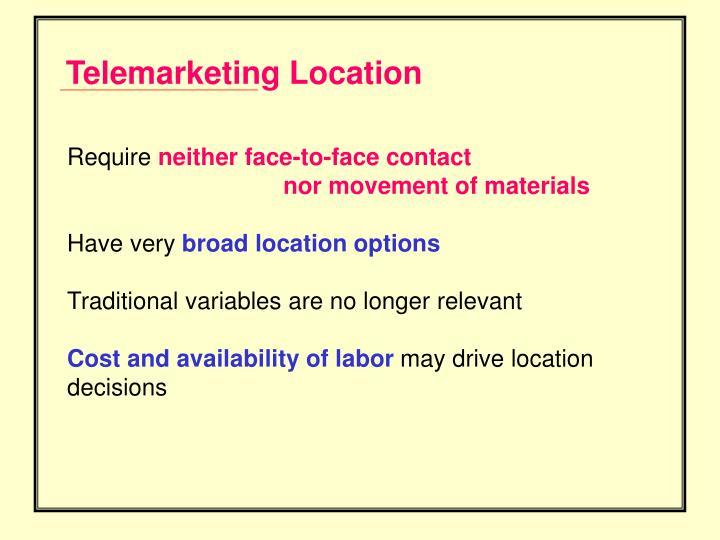 Telemarketing Location