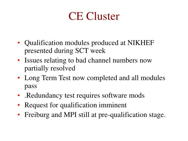 Ce cluster