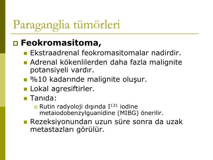 Paraganglia tümörleri