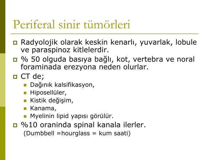 Periferal sinir tümörleri