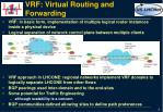 vrf virtual routing and forwarding