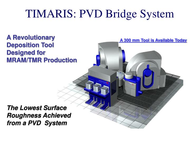 TIMARIS: PVD Bridge System