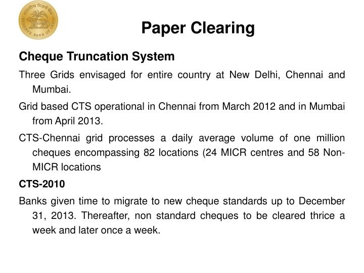Paper Clearing