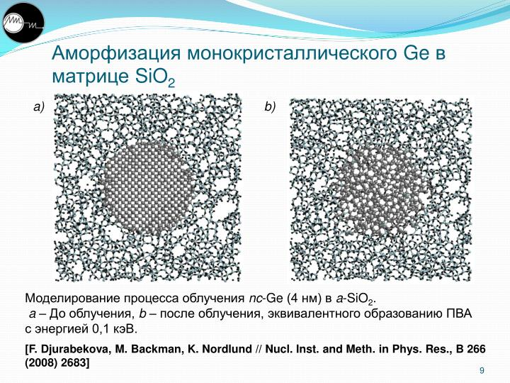 Аморфизация монокристаллического