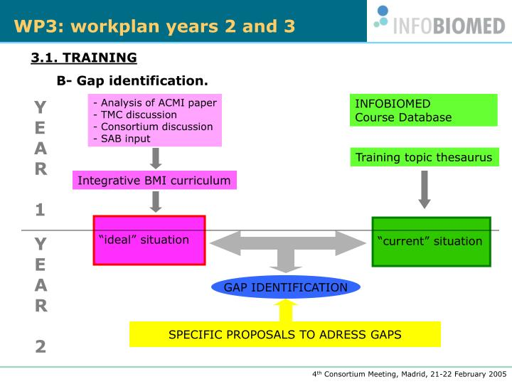 WP3: workplan years 2 and 3