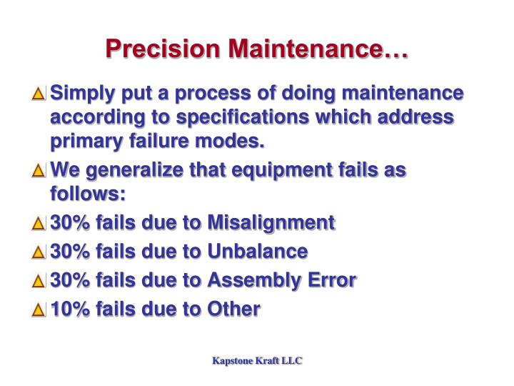 Precision Maintenance…