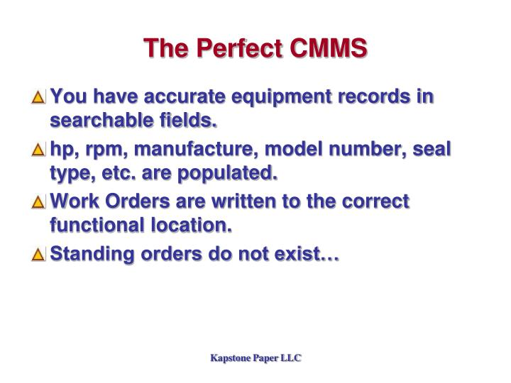 The Perfect CMMS