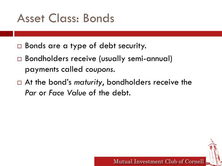 Asset Class: Bonds