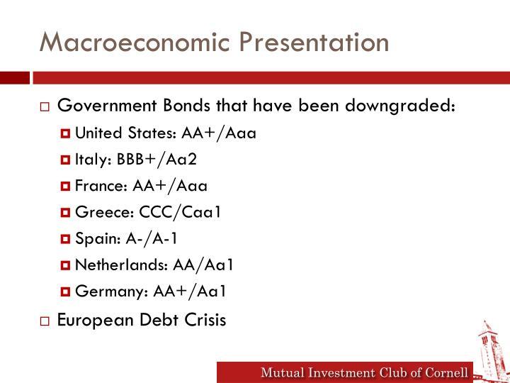 Macroeconomic Presentation