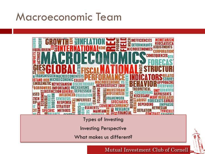 Macroeconomic Team