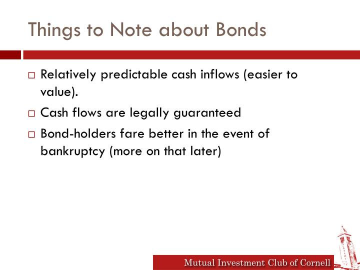 Things to Note about Bonds