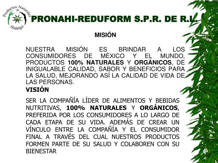 PRONAHI-REDUFORM S.P.R. DE R.L.