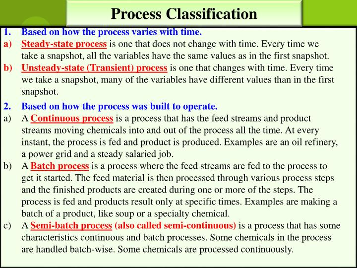 Process Classification