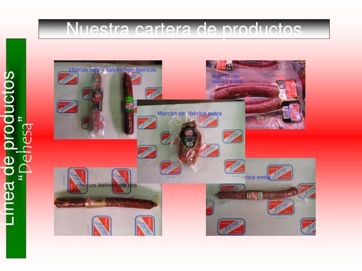 Nuestra cartera de productos