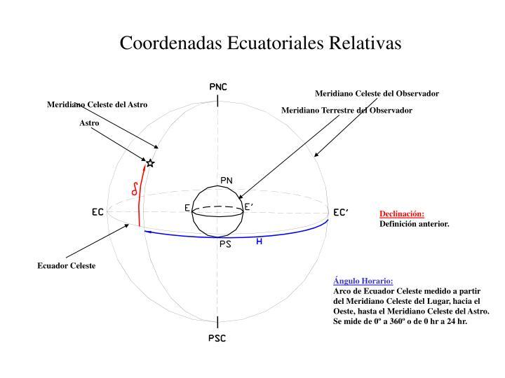 Coordenadas Ecuatoriales Relativas