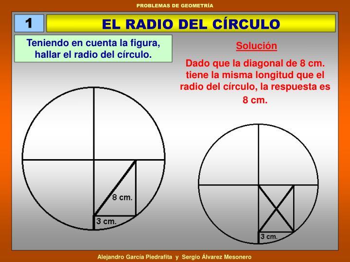 EL RADIO DEL CÍRCULO