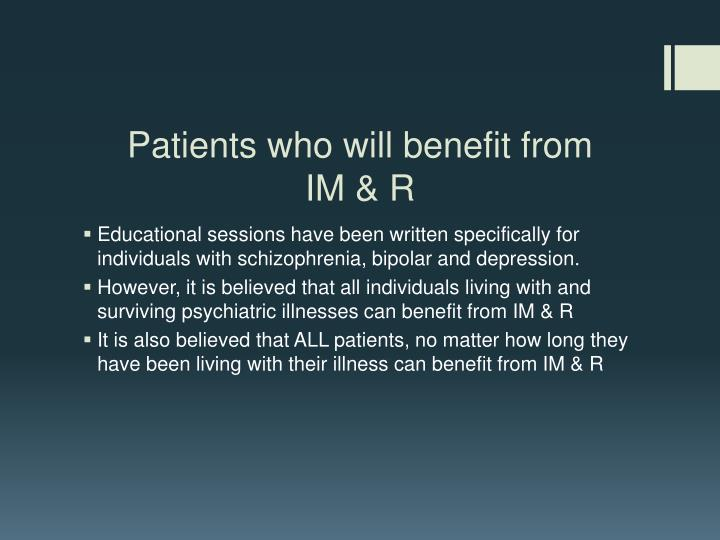 Patients who will benefit from