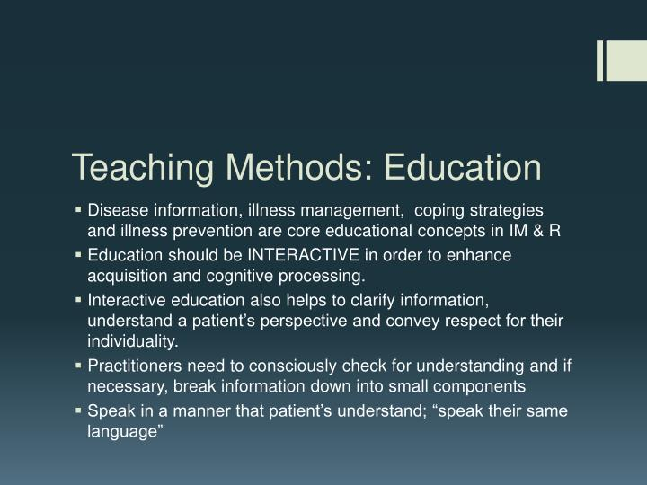 Teaching Methods: Education