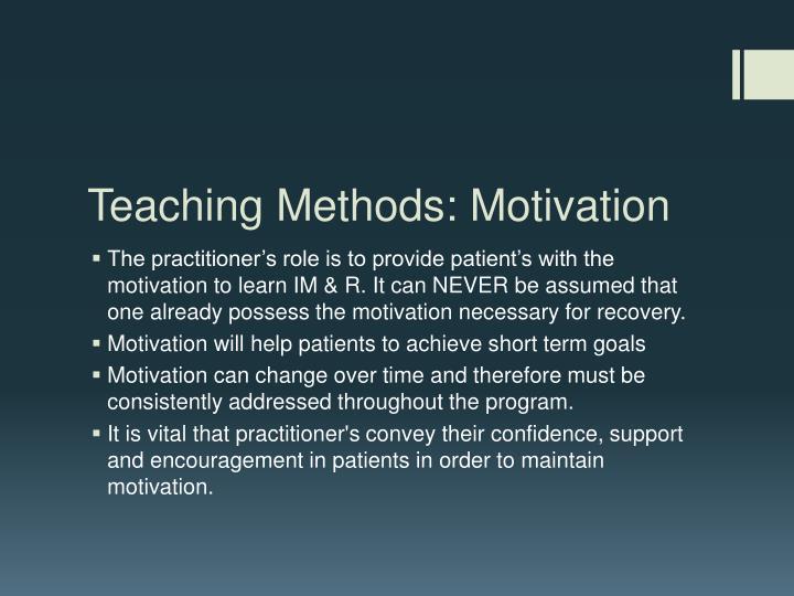 Teaching Methods: Motivation