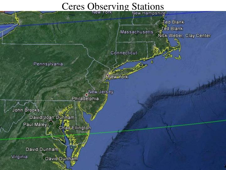 Ceres Observing Stations