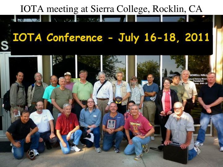 IOTA meeting at Sierra College, Rocklin, CA
