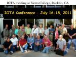 iota meeting at sierra college rocklin ca