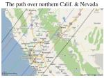 the path over northern calif nevada