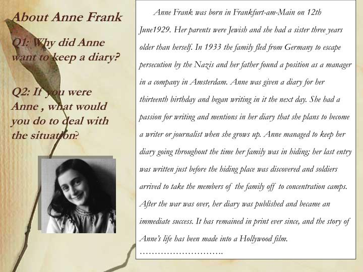 About Anne Frank