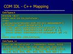 com idl c mapping