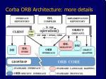 corba orb architecture more details