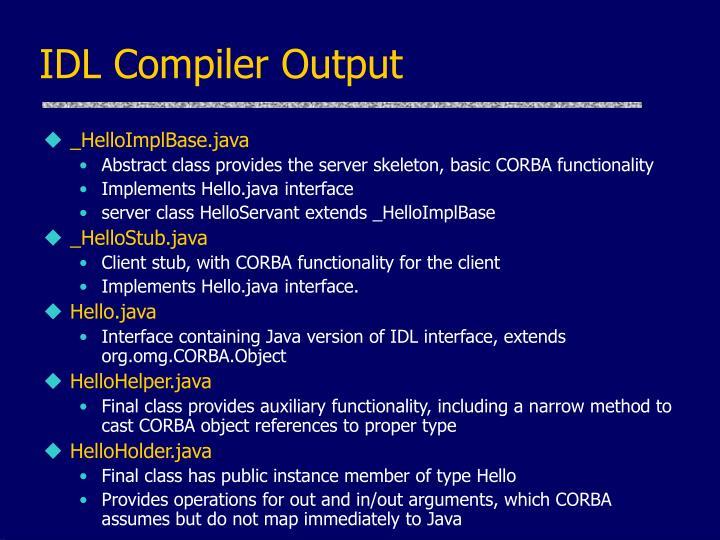 IDL Compiler Output