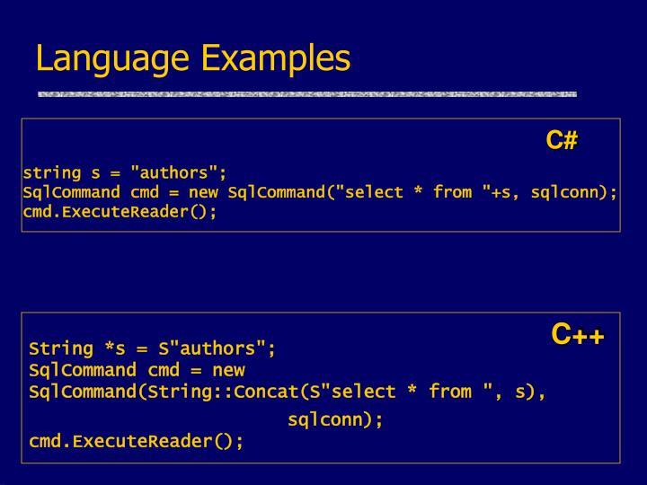 Language Examples