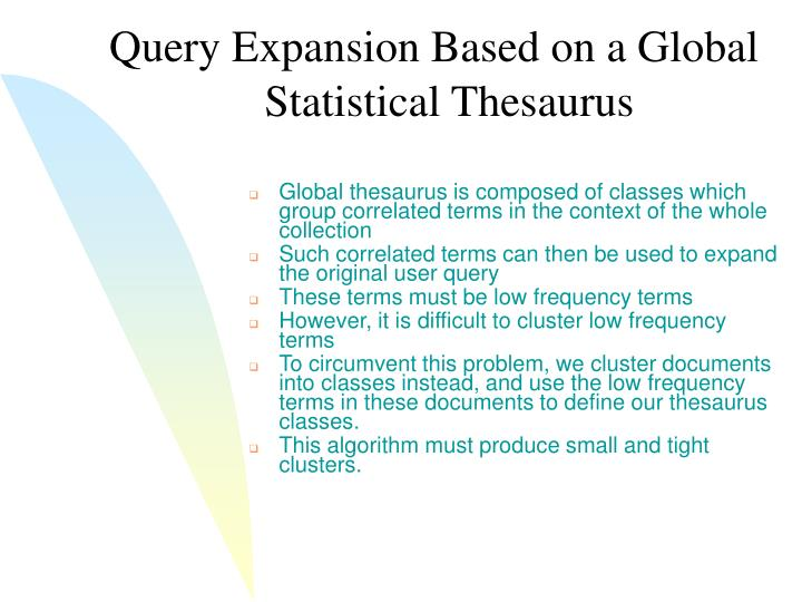 Query Expansion Based on a Global