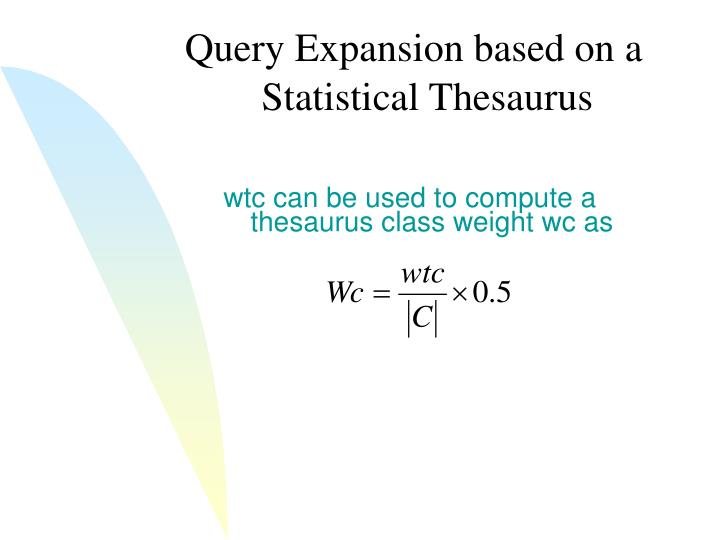 Query Expansion based on a
