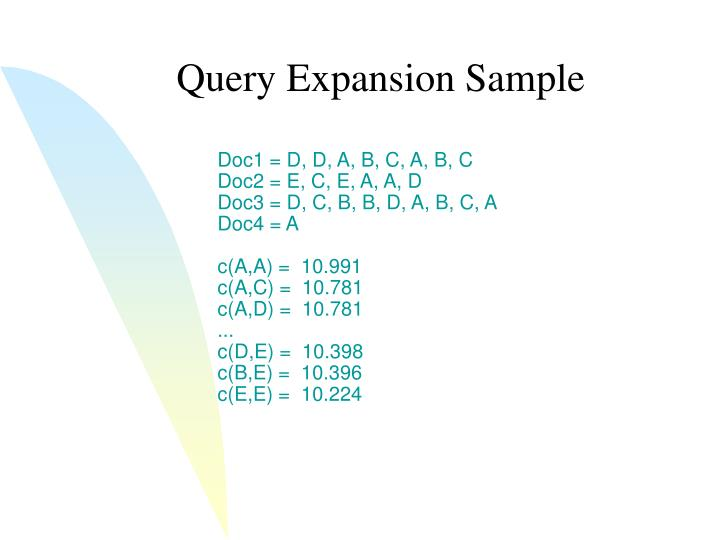Query Expansion Sample