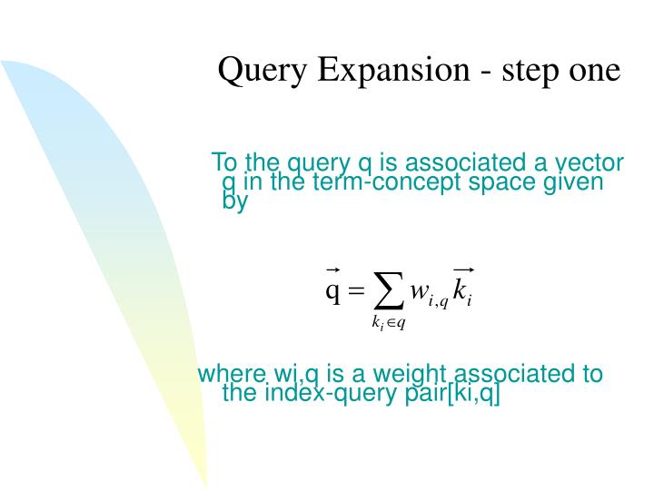 Query Expansion - step one