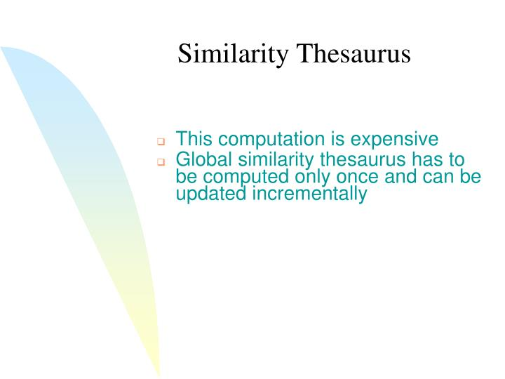 Similarity Thesaurus