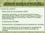 aprobaci n nacional de proyectos mdl criterios desarrollo sostenible1