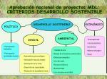 aprobaci n nacional de proyectos mdl criterios desarrollo sostenible2