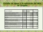 estudio de apoyo a la aplicaci n del mdl en uruguay4