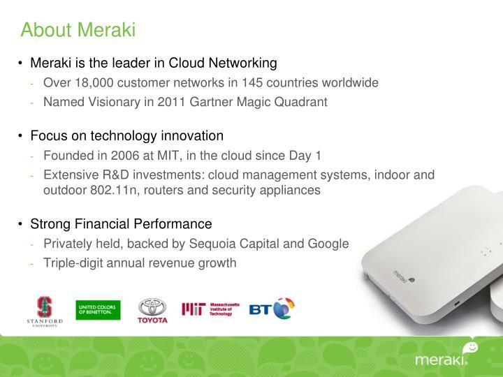 About Meraki