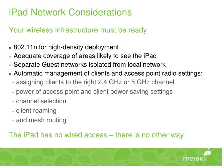 iPad Network Considerations